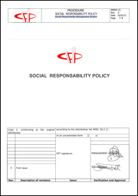 Social Responsability Policy